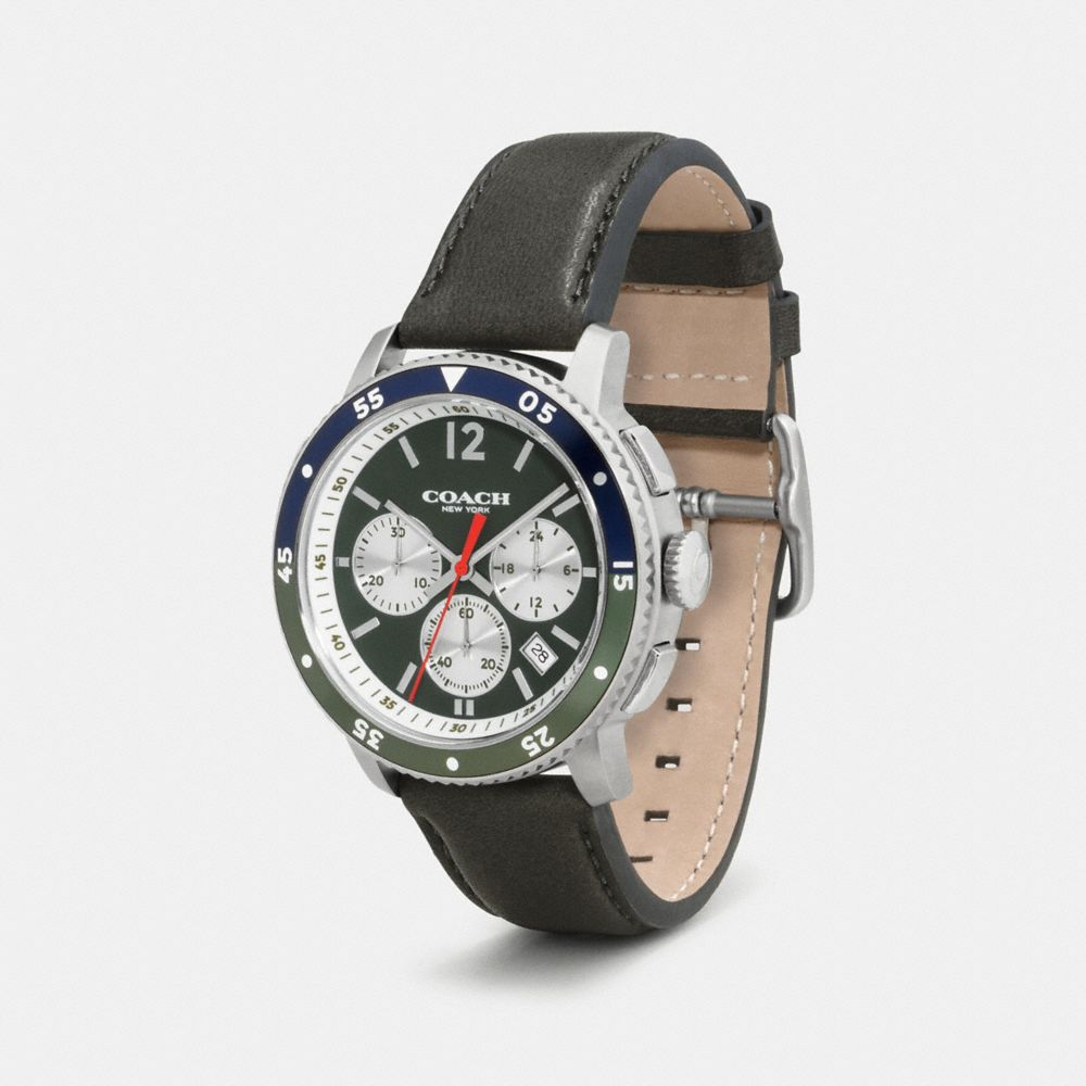 BLEECKER SPORT STAINLESS STEEL CHRONO STRAP WATCH - Alternate View