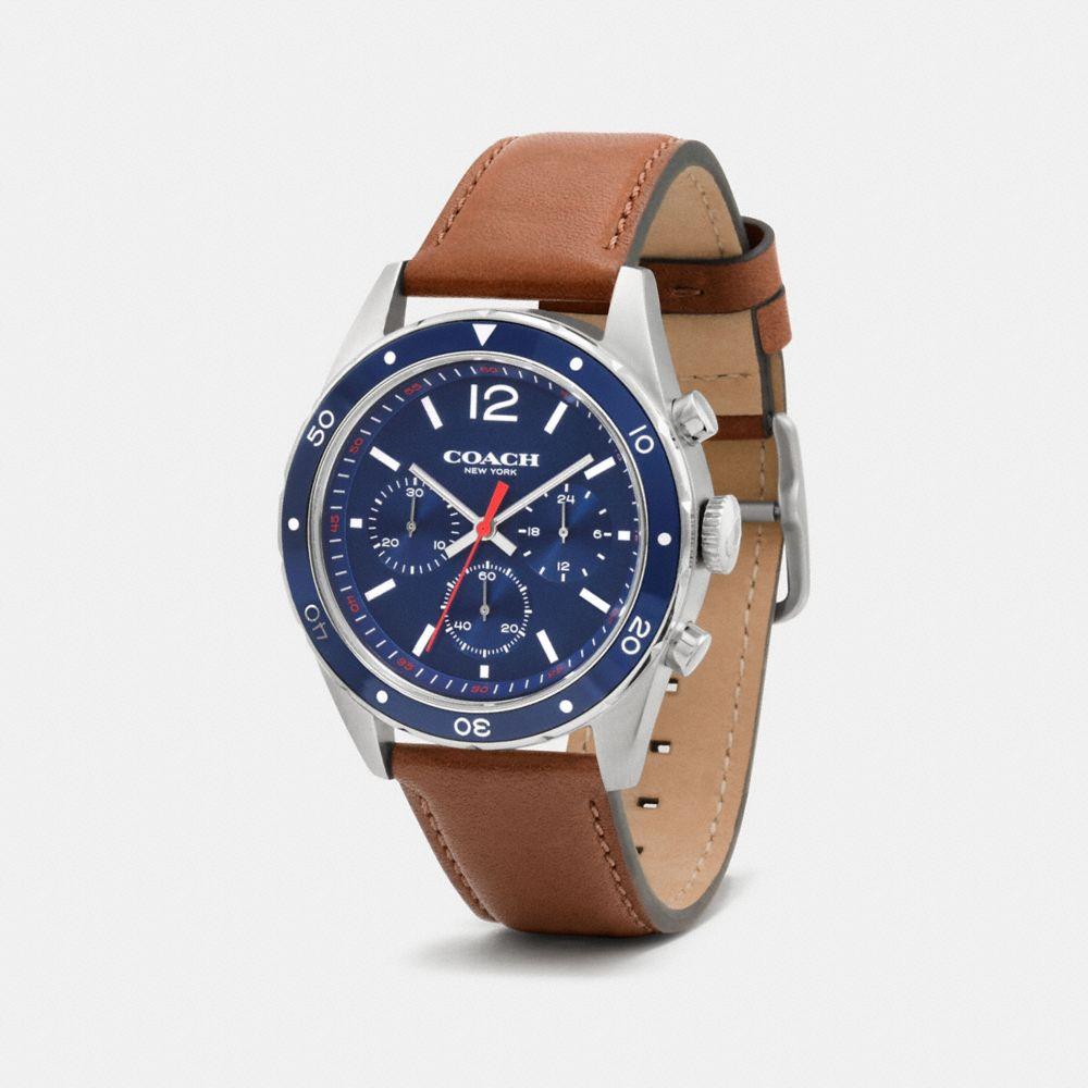 Sullivan Sport Stainless Steel Chrono Leather Strap Watch - Alternate View A1