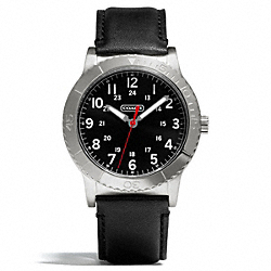 RIVINGTON STAINLESS STEEL LEATHER STRAP WATCH - w5001 - 25274