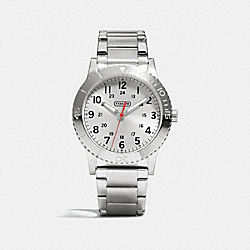 COACH RIVINGTON STAINLESS STEEL BRACELET WATCH - STERLING SILVER - W5002