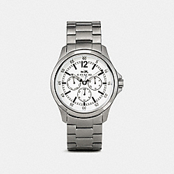 COACH BARROW WATCH - GUNMETAL/WHITE - W5013