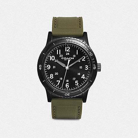 COACH RIVINGTON WATCH, 42MM - MILITARY/BLACK - W5016