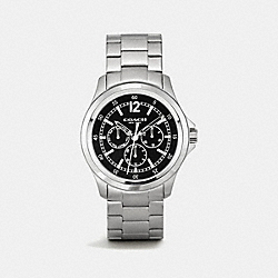 BARROW STAINLESS STEEL MULTIFUNCTION BRACELET WATCH - BLACK - COACH W5020