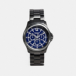 BARROW IONIZED PLATED MULTIFUNCTION BRACELET WATCH - NAVY - COACH W5021