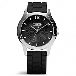 MADDY STAINLESS STEEL RUBBER STRAP WATCH - w6000 - 17436