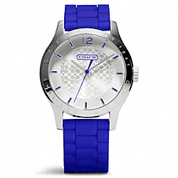 COACH MADDY STAINLESS STEEL RUBBER STRAP WATCH - ONE COLOR - W6000
