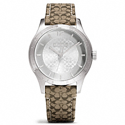 MADDY STAINLESS STEEL SIGNATURE STRAP WATCH COACH W6002
