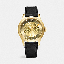 COACH MADDY GOLD PLATED LEATHER STRAP WATCH - ONE COLOR - W6004