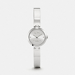 AVERY STAINLESS STEEL BANGLE WATCH - w6022 -  STERLING SILVER