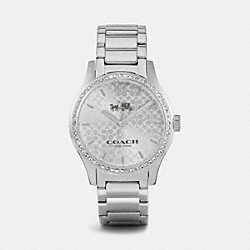 COACH MADDY STAINLESS STEEL SET BRACELET WATCH - STERLING SILVER - W6045