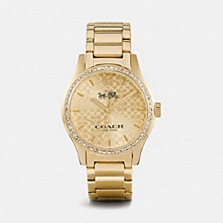 COACH MADDY GOLD TONE SET BRACELET WATCH - GOLD - W6046
