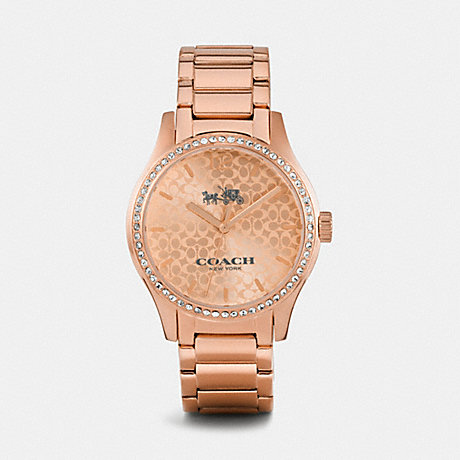 COACH w6047 MADDY ROSE GOLD TONE SET BRACELET WATCH ROSEGOLD
