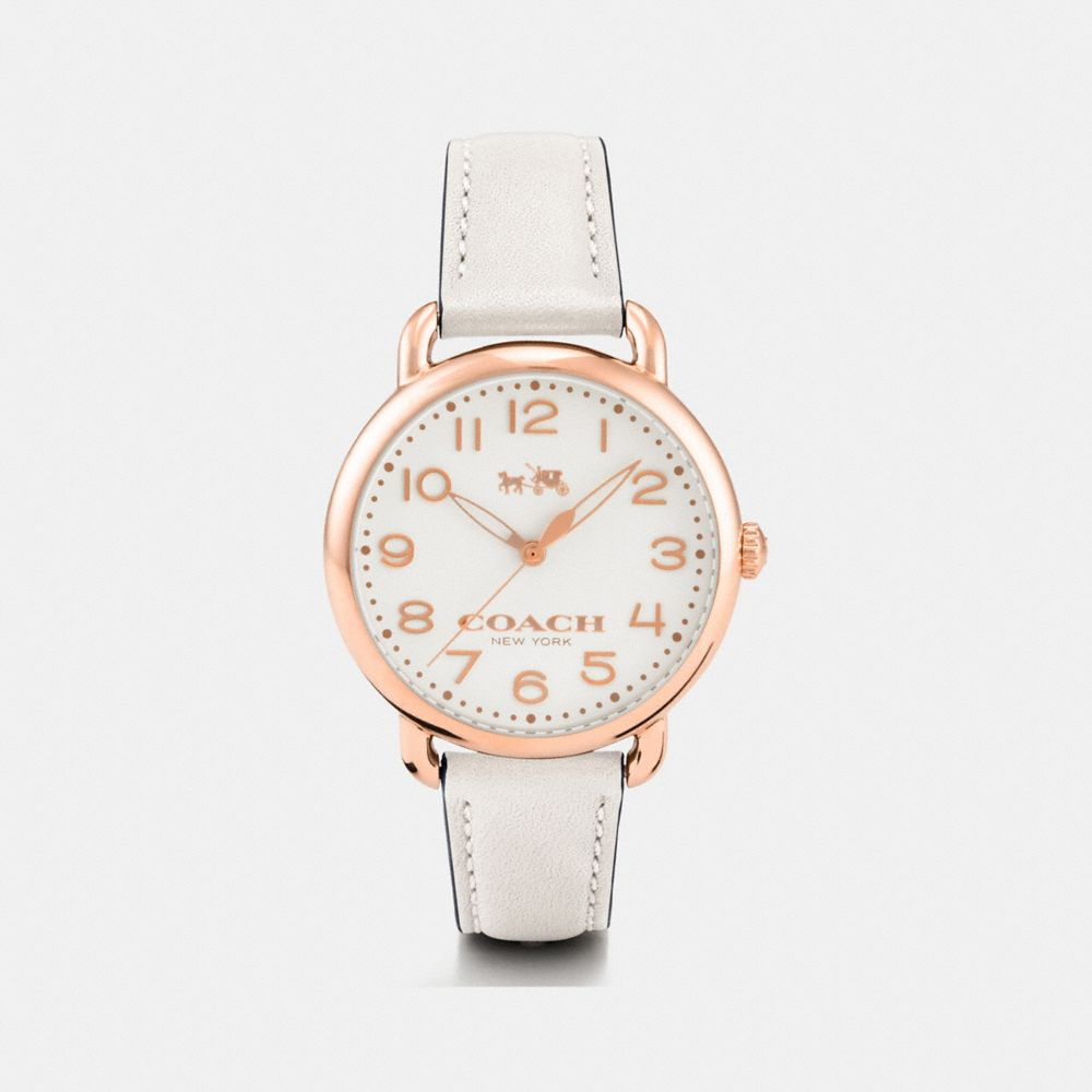 75th Anniversary Delancey Rose Gold Leather Strap Watch
