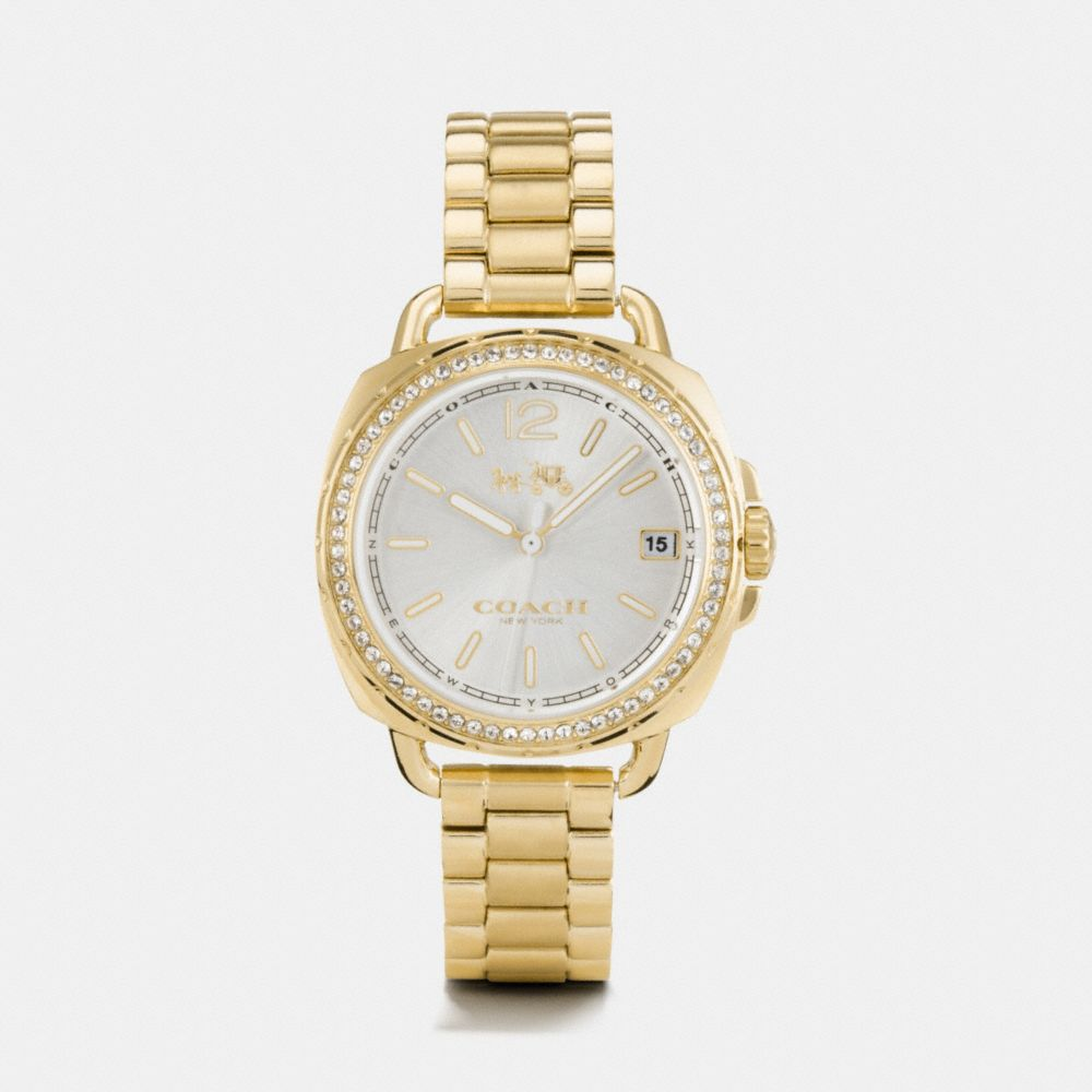 Tatum Gold Tone Sunray Dial Set Bracelet Watch