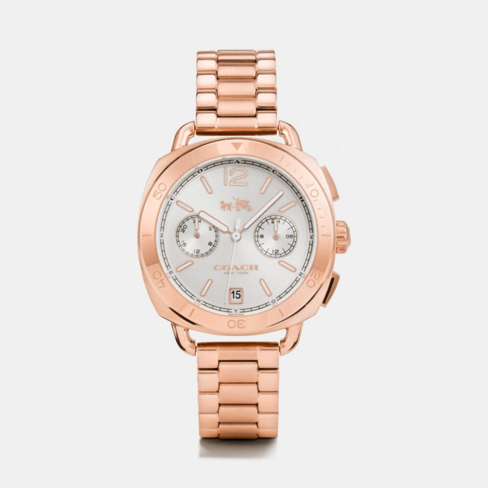 TATUM ROSE GOLD TONE SUNRAY DIAL BRACELET WATCH  - Alternate View