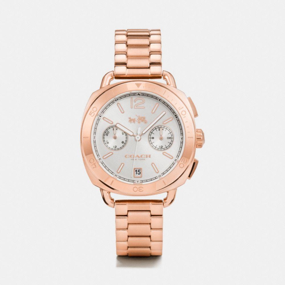 Tatum Rose Gold Tone Sunray Dial Bracelet Watch