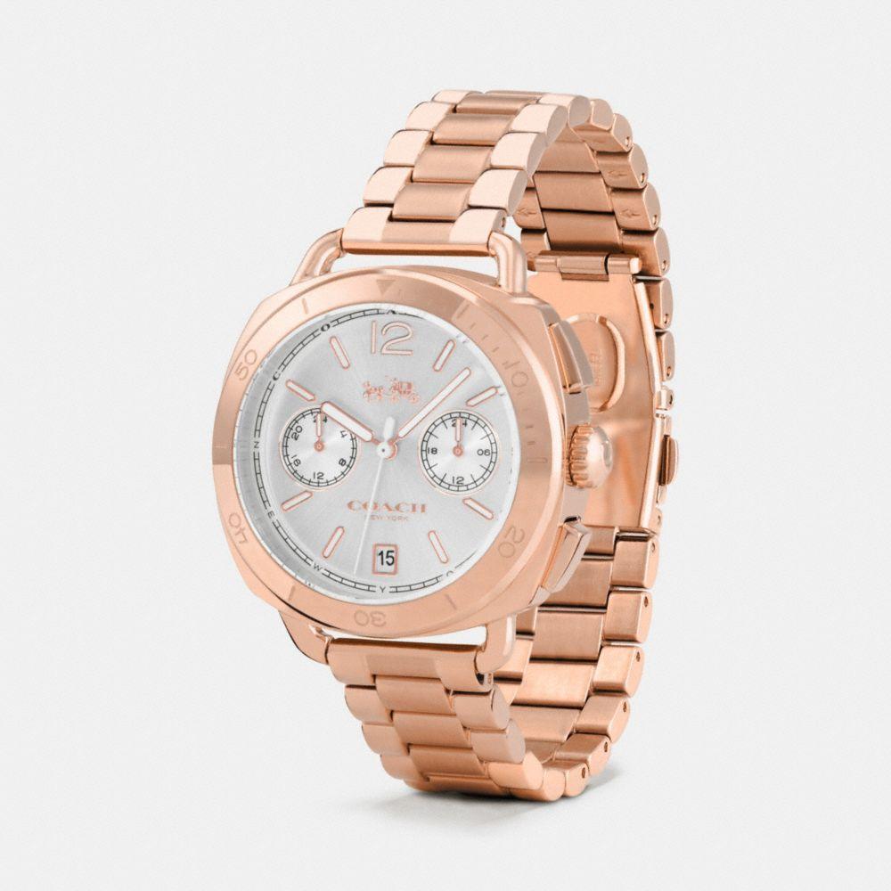 Tatum Rose Gold Tone Sunray Dial Bracelet Watch  - Alternate View A1