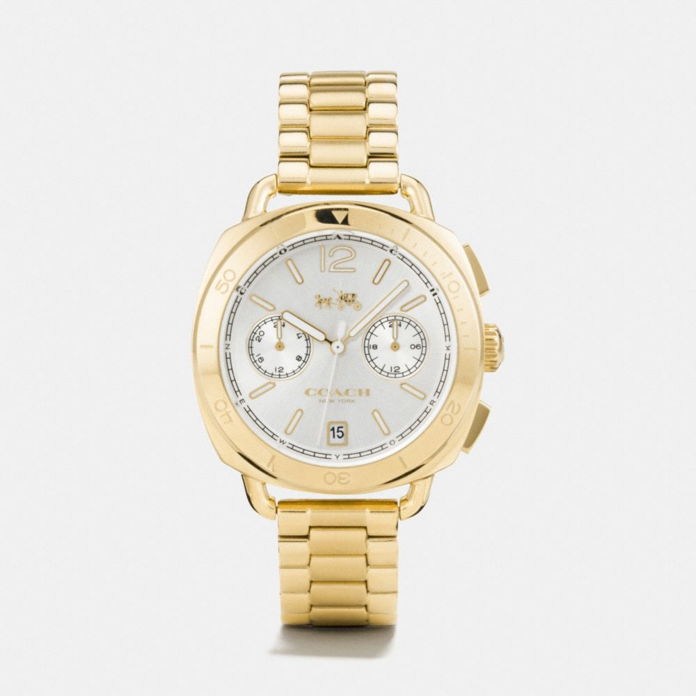 TATUM GOLD TONE SUNRAY DIAL BRACELET WATCH  - Alternate View