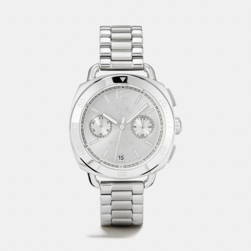 TATUM STAINLESS STEEL SUNRAY DIAL BRACELET WATCH
