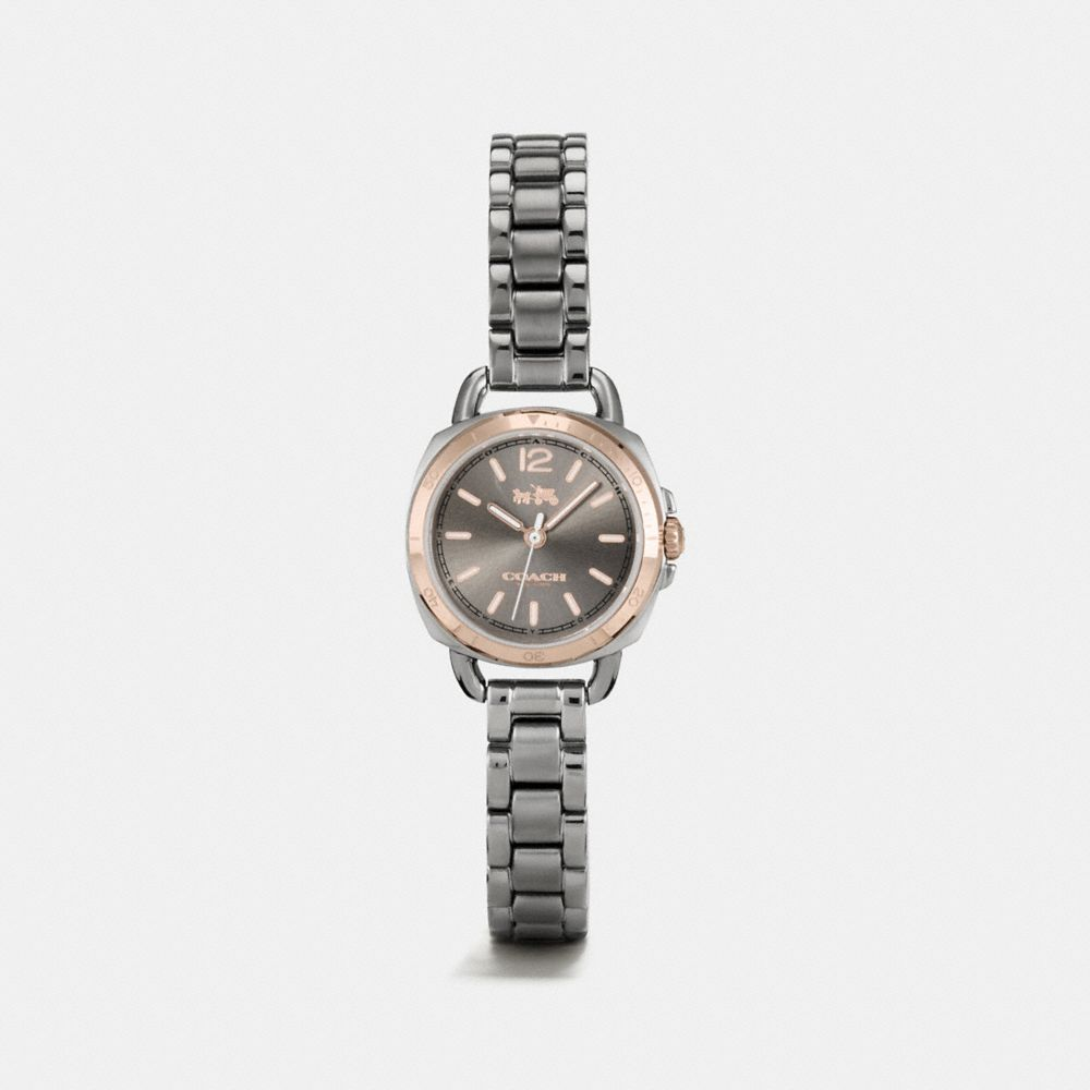 TATUM GREY IONIZED PLATED SUNRAY DIAL BRACELET WATCH - Alternate View