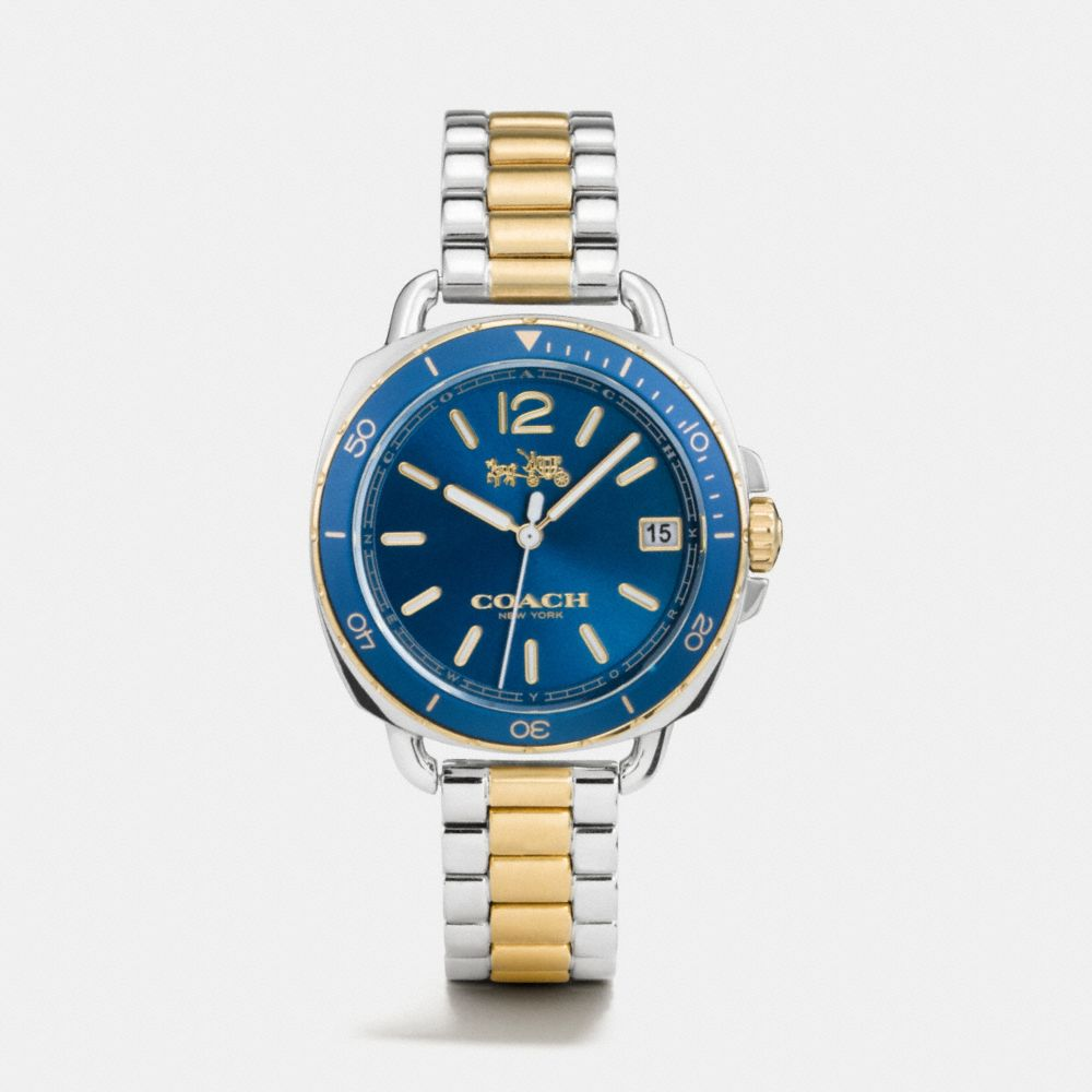 TATUM TWO TONE SUNRAY DIAL BRACELET WATCH - Alternate View