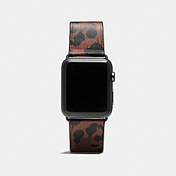 APPLE WATCH® STRAP WITH WILD BEAST PRINT - SADDLE - COACH W6131+SAD++WMN