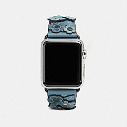 APPLE WATCH® STRAP WITH TEA ROSE - CHAMBRAY - COACH W6132+CMB++WMN