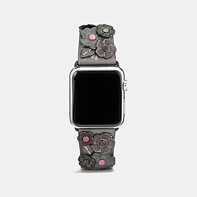 <オンライン限定>Apple Watch(R) 38MM ティー ローズ アップリケ レザー ストラップ