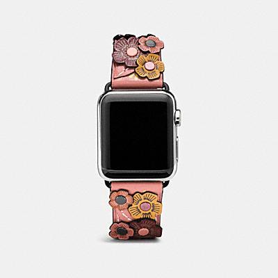 Apple Watch(R) 38MM ティー ローズ アップリケ レザー ストラップ