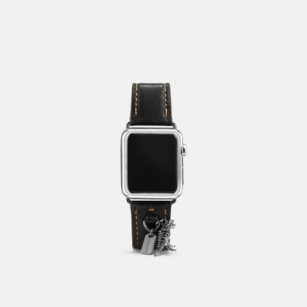 COACH APPLE WATCH STRAP WITH CHARMS