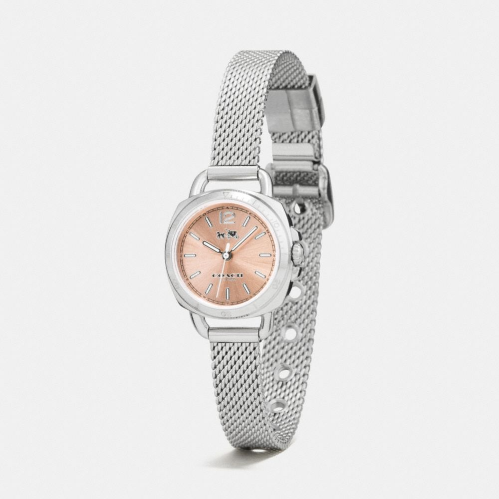 TATUM STAINLESS STEEL SUNRAY DIAL MESH BRACELET WATCH  - Alternate View