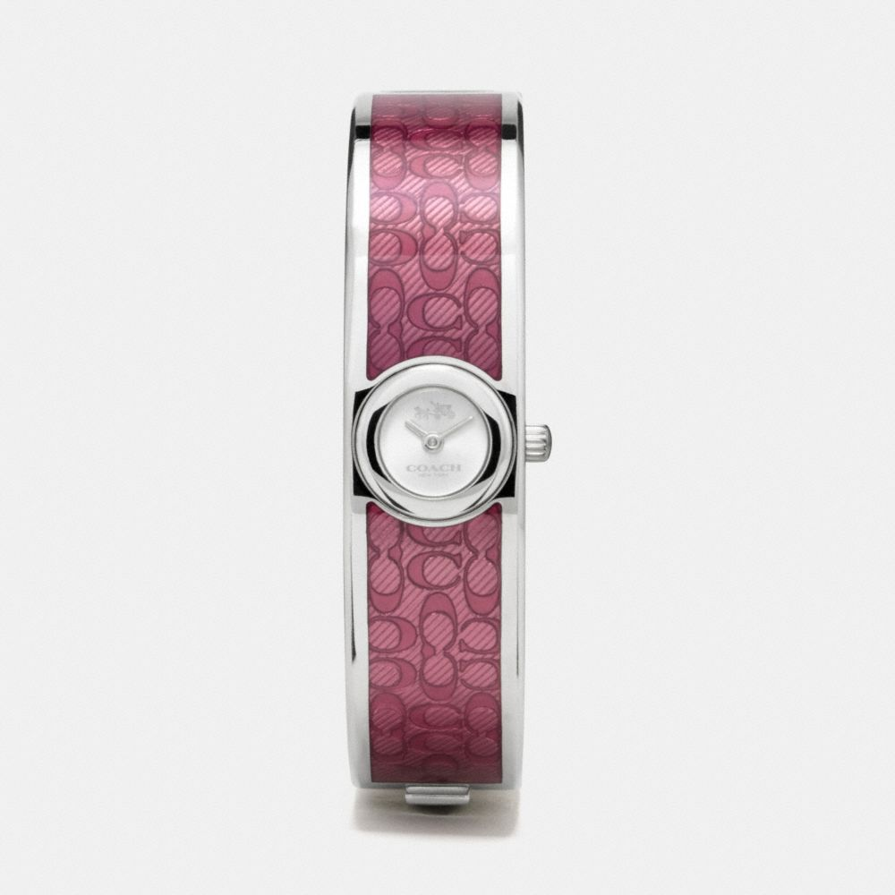 Scout Stainless Steel Sunray Dial Enamel Signature C Bangle Watch