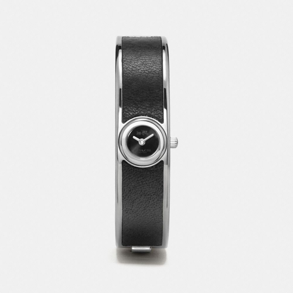 SCOUT STAINLESS STEEL LEATHER BANGLE WATCH