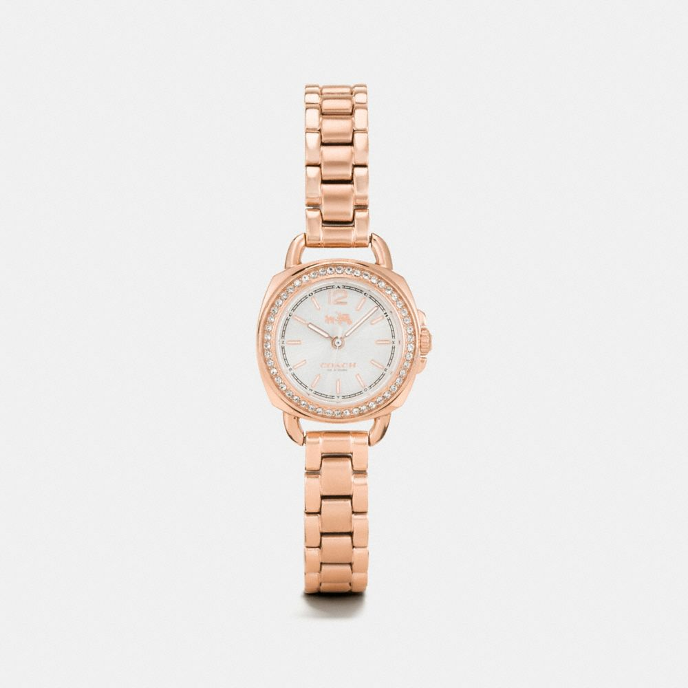 TATUM ROSE GOLD TONE SUNRAY DIAL SET BRACELET WATCH - Alternate View