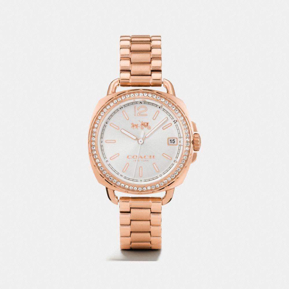 Tatum Rose Gold Tone Sunray Dial Set Bracelet Watch