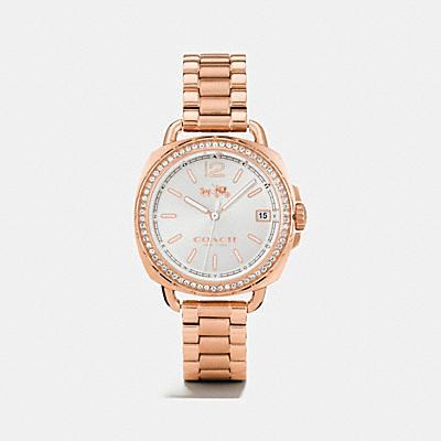 TATUM 光影變色錶盤玫瑰金鑲嵌手鐲錶