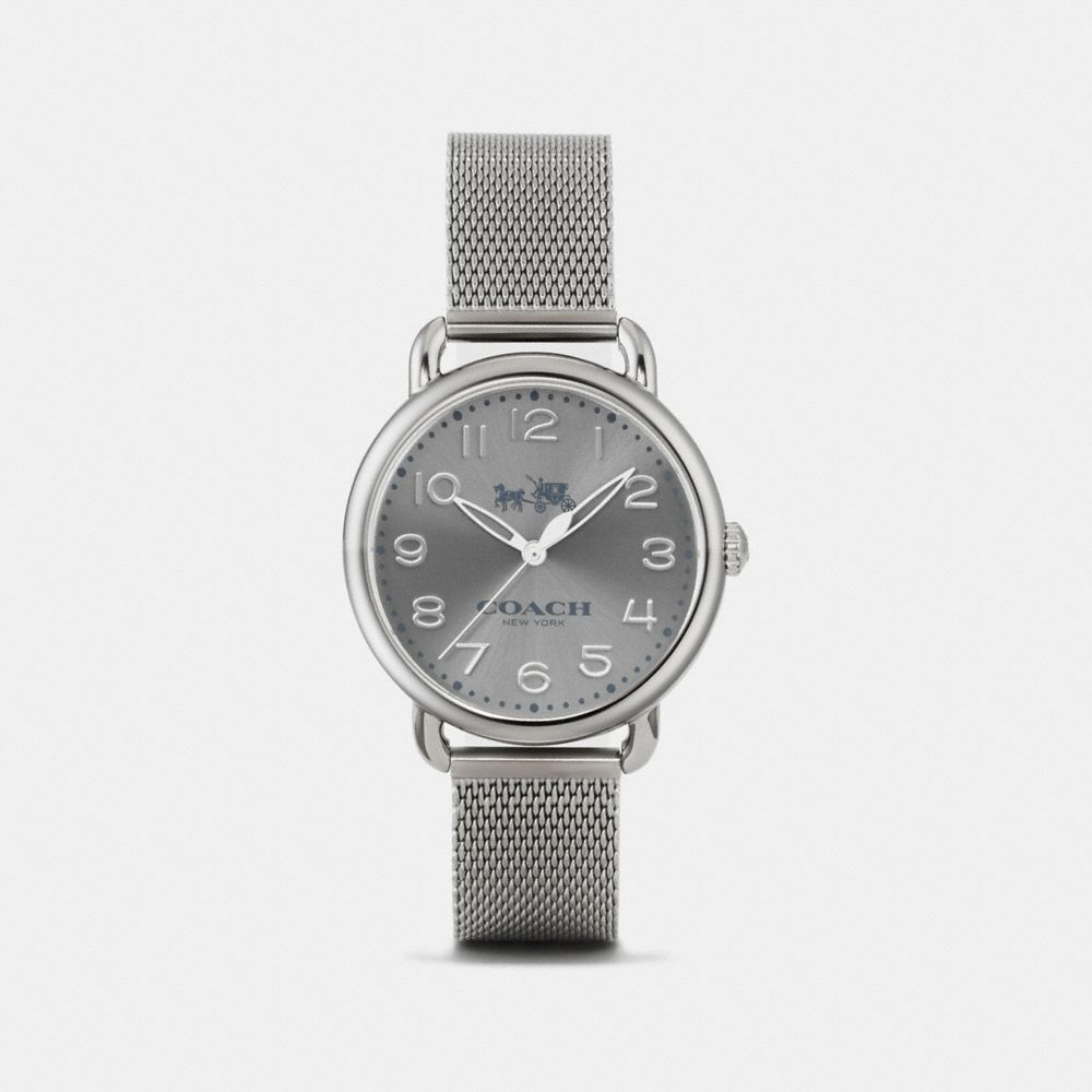 DELANCEY IONIZED PLATED SUNRAY DIAL MESH BRACELET - Alternate View