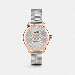 COACH LEXINGTON TWO TONE MESH BRACELET WATCH - TWO TONE - W6182