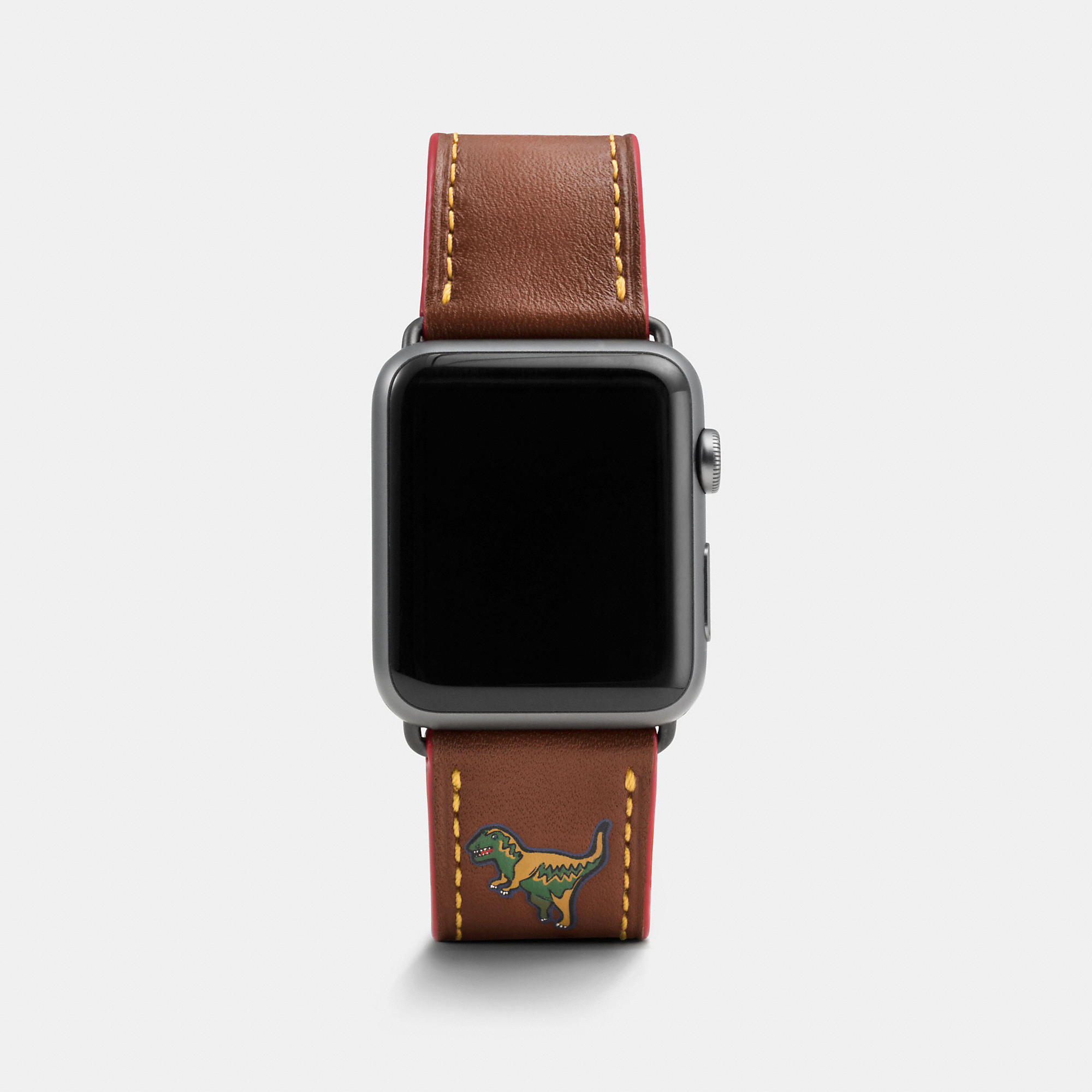 Coach Apple Watch Rexy Leather Strap