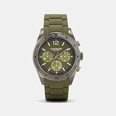 SULLIVAN SPORT IONIZED PLATED RUBBER STRAP WATCH