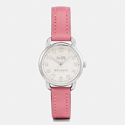 DELANCEY 皮革不鏽鋼腕錶