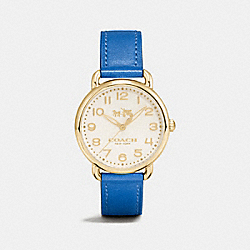 DELANCEY LEATHER STRAP WATCH - DENIM - COACH W6204