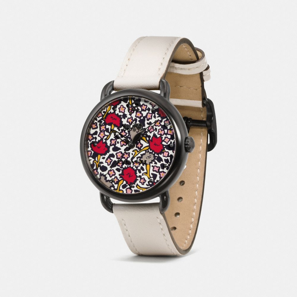 Coach Delancey Watch With Floral Dial Alternate View 1