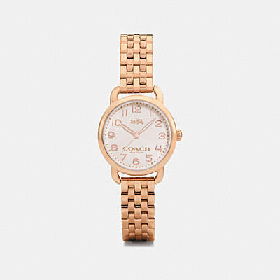 DELANCEY ROSE GOLD TONE BRACELET WATCH