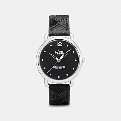 DELANCEY 拼接皮革不鏽鋼腕錶
