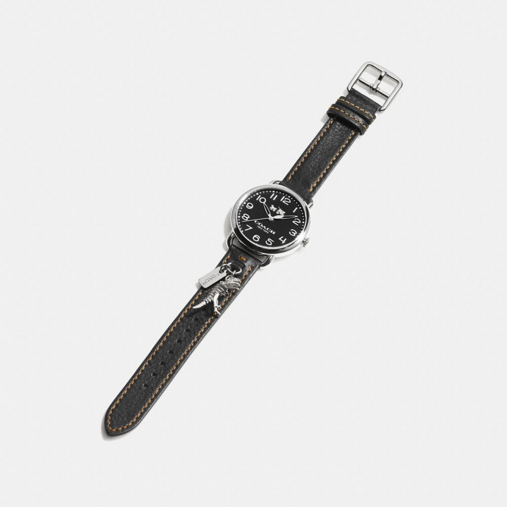 DELANCEY  LEATHER STRAP WATCH WITH REXY CHARM - Alternate View