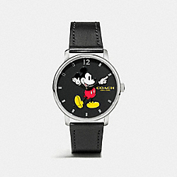 GRAND MICKEY LEATHER STRAP WATCH - BLACK - COACH W6232
