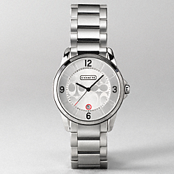 CLASSIC SIGNATURE LARGE BRACELET WATCH - w681 - Stainless Steel