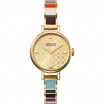 Coach Official Site - MIRANDA LEGACY STRIPE BANGLE WATCH from coach.com