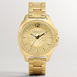 COACH BOYFRIEND CRYSTAL BEZEL BRACELET WATCH - ONE COLOR - W904